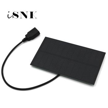 Panel słoneczny 5V 300mA wyjście USB ładowarka solarna port USB żeńskie ogniwo słoneczne 5 5V 1 65W regulatory ładowania 3 7V 18650 tanie i dobre opinie SLAR 133x76 5 5V1 65W Krzem polikrystaliczny