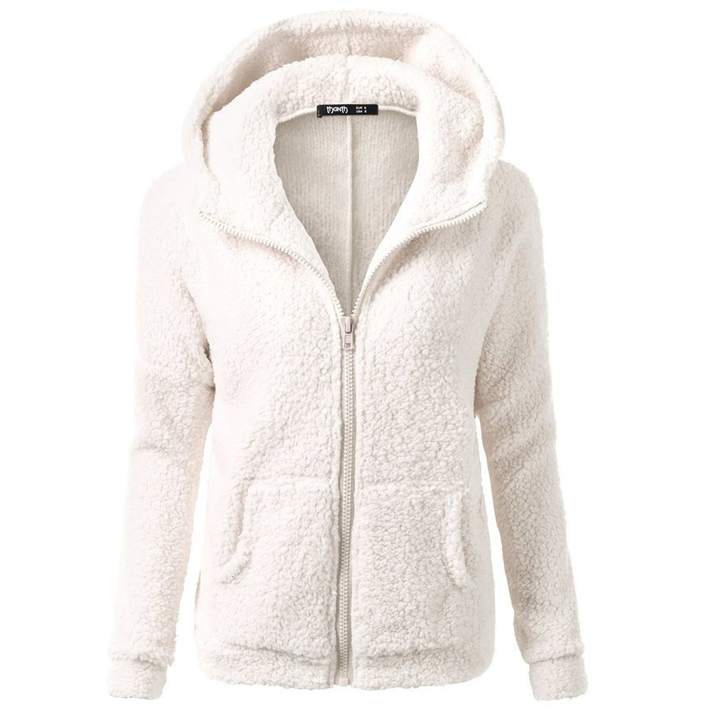 Casual Winter Jacket Women Wool Warm Women Jacket Long Sleeve Hooded Coats Women Chaqueta Mujer#G30