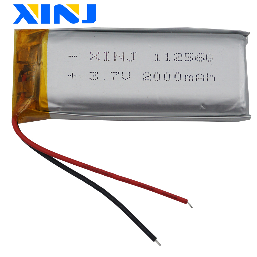 XINJ <font><b>3.7V</b></font> <font><b>2000mAh</b></font> <font><b>Lipo</b></font> Polymer Li ion <font><b>Battery</b></font> 112560 For E-book Power bank Monitor Video player Plate MID Portable DVD Tablet PC image