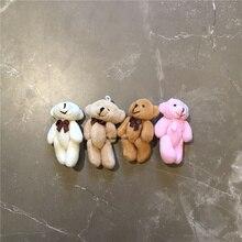Мягкие игрушки для букета, 8 см мягкий медведь 4 цвета-плюшевая декоративная игрушка, Подарочная игрушка мини-животное