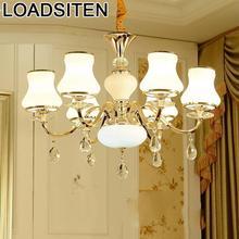 Lampen Industrieel European Lampara Flesh Kitchen Crystal Pendant Light Suspendu Luminaria Suspension Luminaire Hanging Lamp
