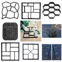 Moldes de hormigón molde para construir pavimentos DIY, molde de pavimentación de hormigón reutilizable, molde de ladrillo de cemento, piedra de jardín, suelo, carretera, pavimentadora, paleta