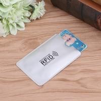 Suporte de cartão de banco portátil da folha de alumínio anti magnético do protetor do cartão do crédito rfid da luva do cartão da varredura|Acessórios de Controle de acesso|Segurança e Proteção -