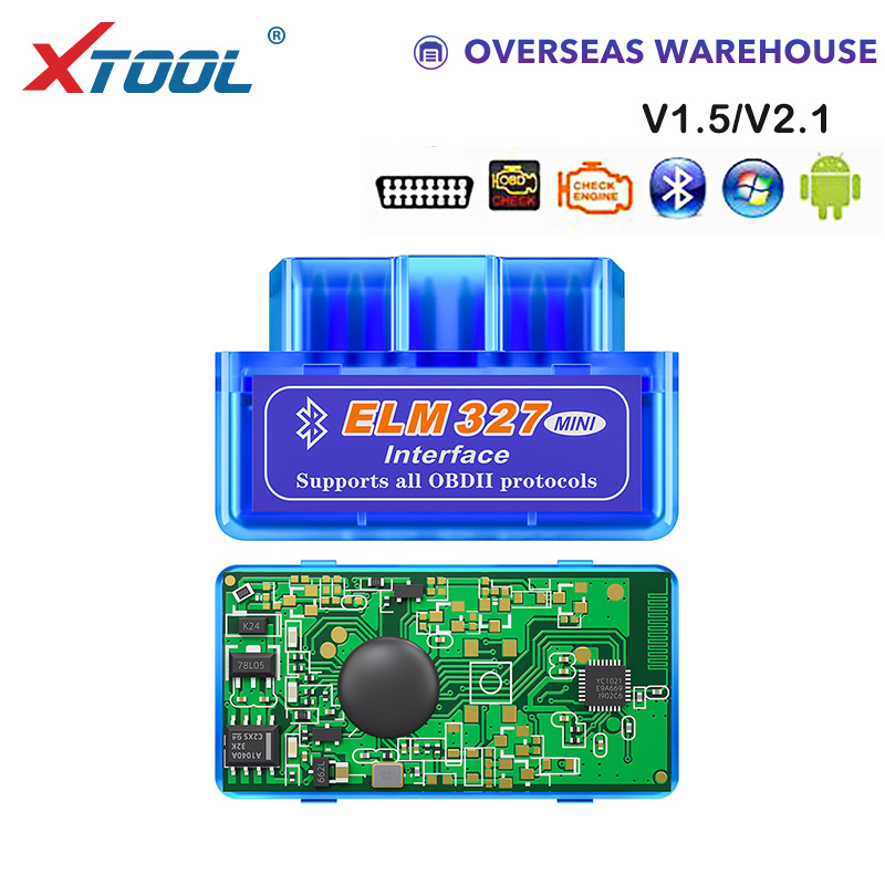 XTOOL NEW OBD Mini Elm327 Bluetooth V1.5/V2.1 Code Readers Auto Diagnostic Tool Obd2 Scanner For Android Free Shipping