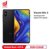 """Rom globale Xiao mi mi mi x 3 8GB RAM 256GB ROM Snapdragon 845 Octa Core 24MP 6.39 """"plein écran Qi téléphone portable de charge sans fil"""