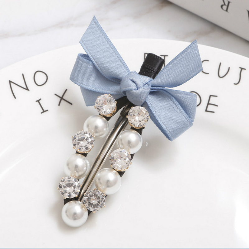 New 12 Types Colorful Bow Hair Clips Barrette Cute Pearl Hair Pins Rhinestone Hair Accessories Crystal Hairpins 2019 New Fashion