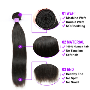 Image 4 - Cranberry Hair mechones de cabello liso malasio, extensiones de cabello humano mechones de 100g por pieza, se pueden comprar 3 o 4 mechones, extensiones de cabello Remy