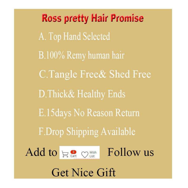 Long Hair 8inch to 36inch Ross Pretty Remy Brazilian Straight Hair Bundles Human hair weave bundle Natural Color black