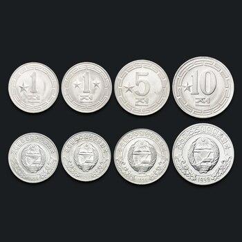 Set de monedas de Corea del Norte, 4 Uds. UNC, moneda coleccionable Original del mundo Real, monedas DPRK