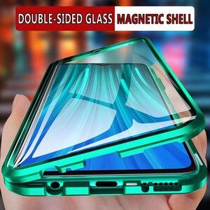 Image 1 - Funda de cristal de doble cara para Redmi Note 8 Pro, funda a prueba de golpes para Redmi Note 7, Note 8, Bumper, Redmi Note 7 Pro