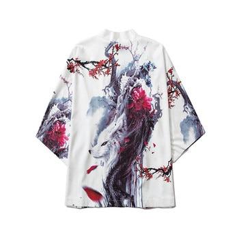 harajuku streetwear kimono cardigan