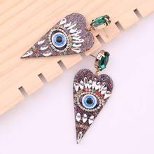 Statement Oorbellen Resin Heart Voor Vrouwen Handmade Crystal Ladies Earrings Fashion Jewelry Wedding Accessories