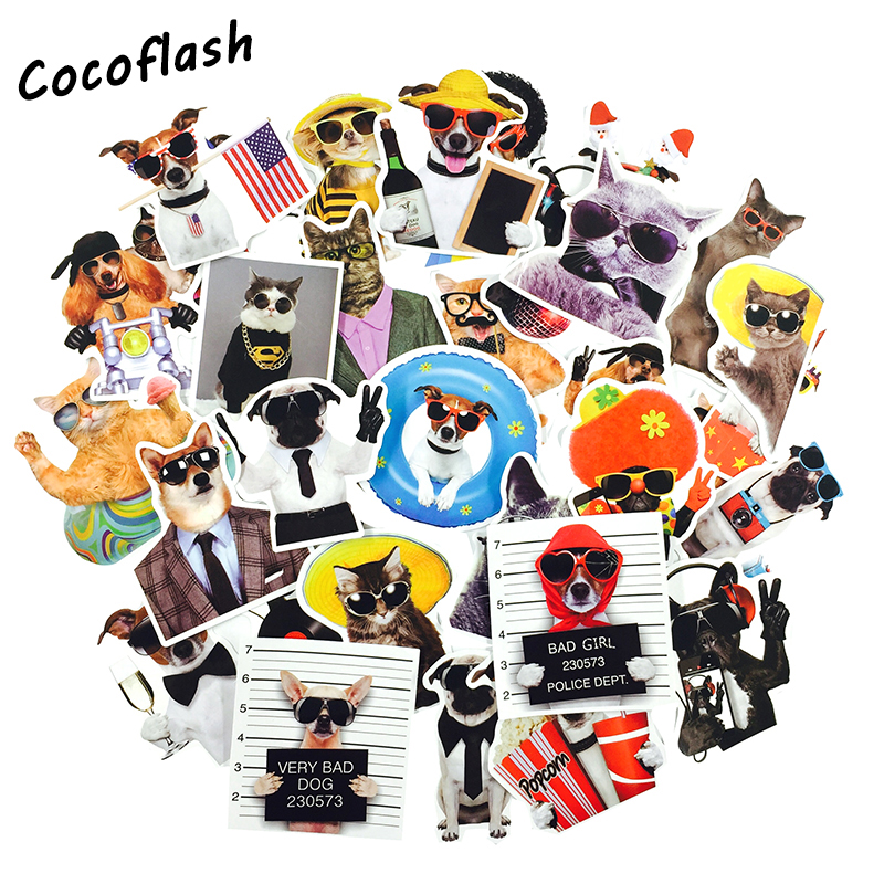 38pcs Cartoon Style Sticker Anime Cute Animal Children's Stickers For DIY Skateboard Bicycle Laptop Suitcase Notebook Stickers