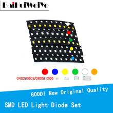 100pcs/LOTE 1206 0805 0603 0402 SMD Led Red Yellow Green White Blue Orange light emitting diode Water Clear LED Light Diode Set