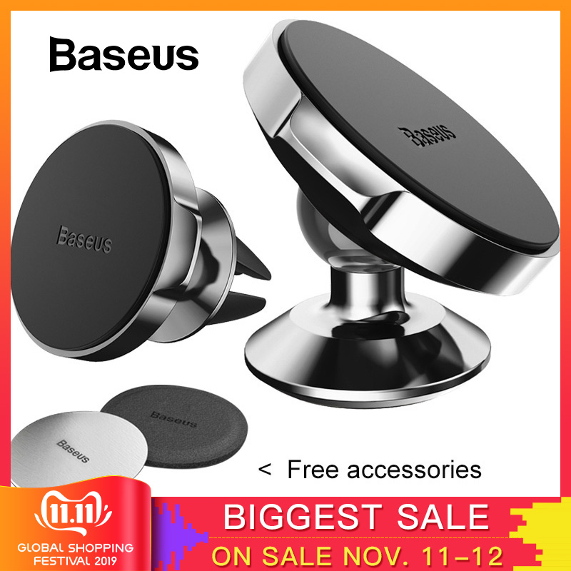 Baseus Magnetic Car Holder For Phone Universal Holder Mobile Cell Phone Holder Stand For Car Air Vent Mount GPS Car Phone Holder-in Phone Holders & Stands from Cellphones & Telecommunications