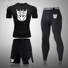 Novo agasalho masculino roupas de verão roupas esportivas 3 peça conjunto t camisa marca trilha roupas masculino ternos esportivos S-4XL