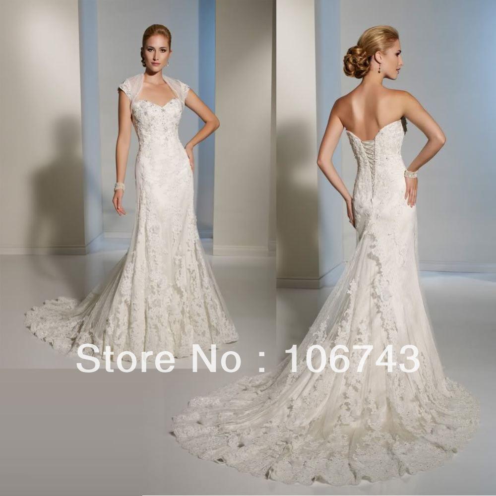 Vestido De Noiva Brides 2020 Beading Sexy Sweetheart Lace Appliques Bridal Mermaid Wedding Dress With Jacket Free Shipping