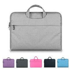Capa protetora para laptop, bolsa de mão, estojo protetor, ultrabook notebook 13 14 15 15.6 polegadas para macbook air pro asus aparelhos eletrônicos