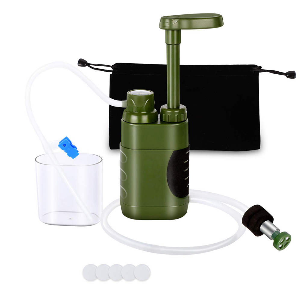 Emergency Outdoor Water Filter Straw Water Filtration System Water Purifier for Family Preparedness Camping Hiking