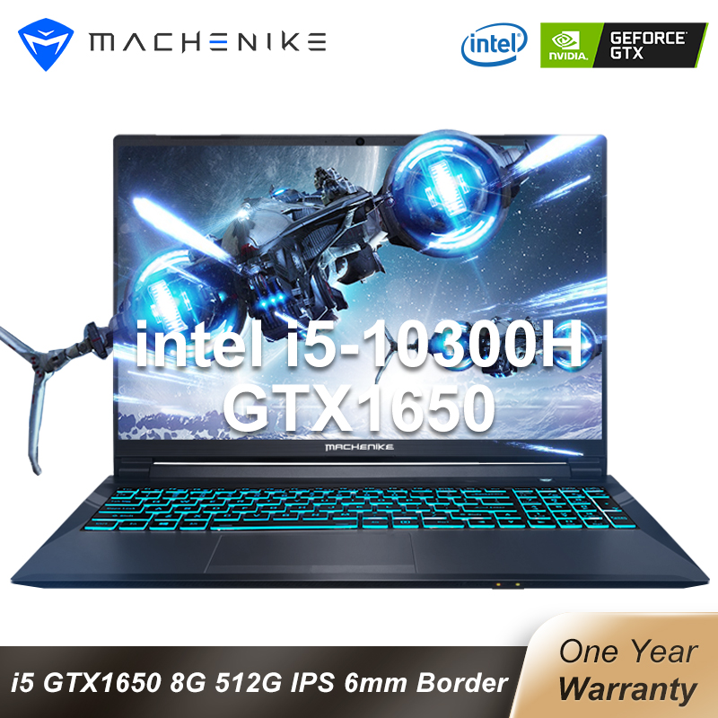Machenike T58-VA i5 gaming laptop 2020 GTX1650 4G latptops Intel i5 10300H 8GB RAM 512G SSD 15 6   6mm Border IPS notebook