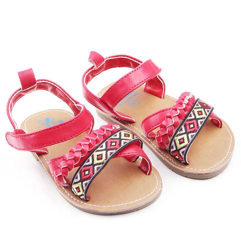 קיץ פעוט סנדלי PU החלקה גומי תינוק נעלי בנות חדש חמוד יילוד תינוקות בייבי בנות Bowknot נסיכת נעליים