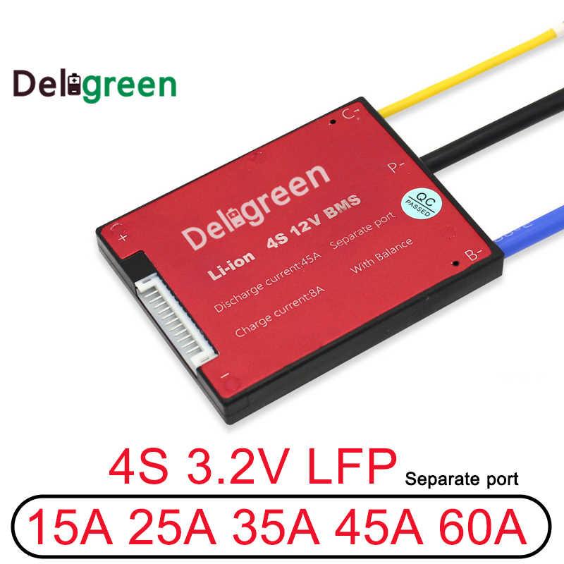 3,2 v LifePO4 BMS 4S 12V 15A 25A 45A 60A PCM/PCB/BMS LiFePO4 Bms LiNCM наладили Li-po 18650 Батарея пакет с балансом