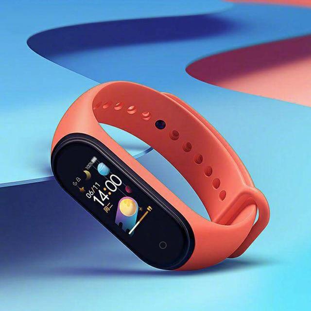 W magazynie oryginalny Xiaomi Mi zespół 4 inteligentny Miband 4 kolorowy ekran bransoletka tętno Fitness Tracker Bluetooth5.0 wodoodporny Band4