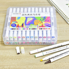 12/24/36 Color Sketching Markers Dual Brush Tip Marker for Drawing Portable Calligraphy Pen Set with Storage Box School Supplies
