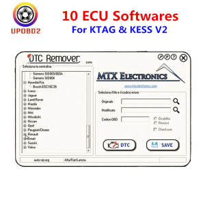 Software-Links KESS KTAG Dtc-Remover/ecm Winols/ecu Crack/garage V2.25 V2.47 10-Ecu Datebase