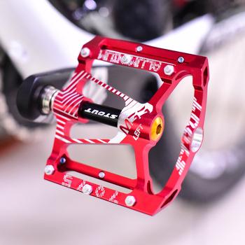 286g Ultralight profesjonalne wzrost jakości MTB Mountain BMX pedały rowerowe rowerowe kolarstwo uszczelnione łożysko pedały pedał 5 kolory tanie i dobre opinie Mountain Bikes 100*120*15MM Aluminum Alloy Ultralight Pedal