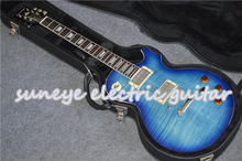цена на Suneye Pearl Inlaid Standard Electric Guitar Chrome Hardware Guitarra Electrica With Guitar Case In Stock