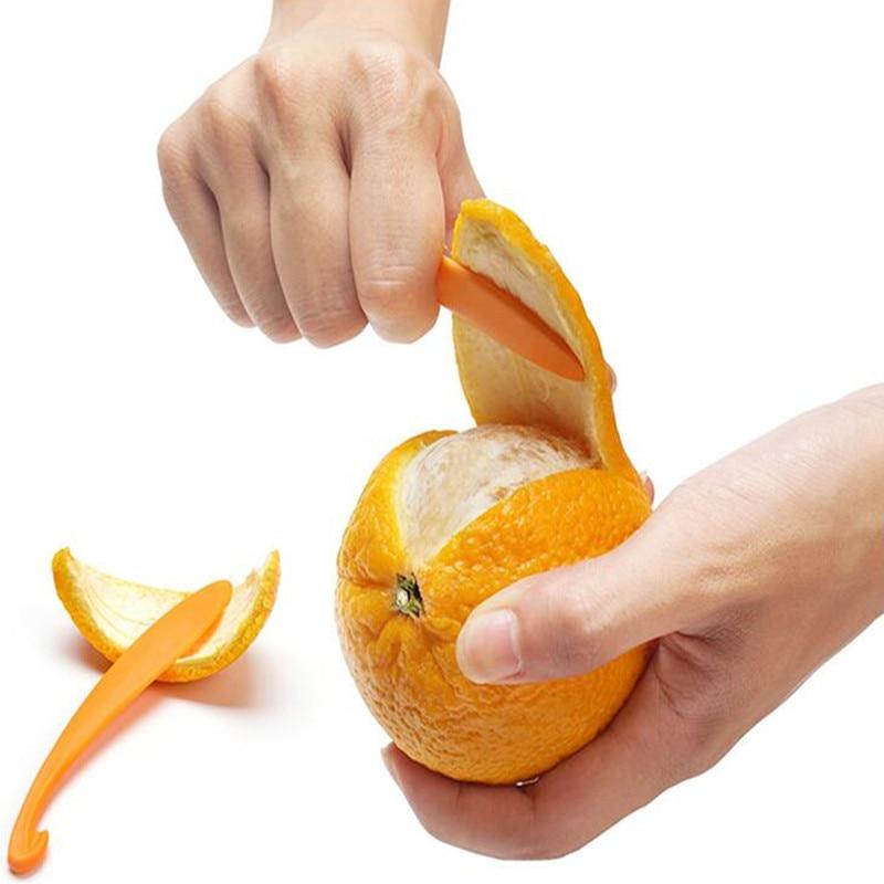 2pc Long Section Orange Peeler Peel Orange Juice Compact And Practical Helper EC