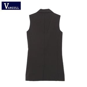 Image 4 - Phụ nữ áo vest Thời Trang Tủ Quần Áo hình Chắc Chắn Ôm áo vest 2019 Trang Trí Áo Nữ Không Tay Áo công sở cho Nữ