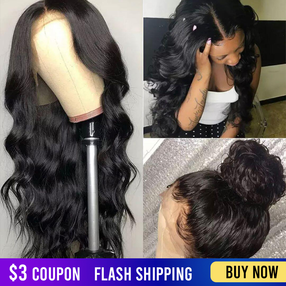 360 Lace Frontal Human Hair Wig Pre Plucked With Baby Hair Short Brazilian Natural Remy Hair Body Wave Wavy Wigs For Black Women
