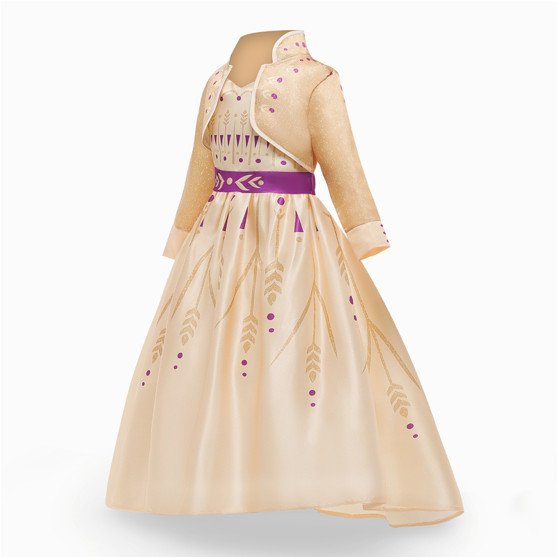 Girls Princess Dresses for 4-10T Children Kids Halloween Cosplay Costume Role-play Clothing Dress 4