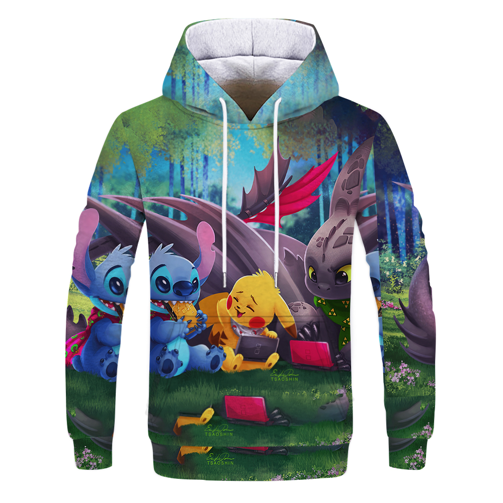 Cartoon Women Men Anime 3D Print Casual Sweatshirt Pullover Hoodies Tops