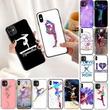Love Gymnastics silhouette sports Black Cell Phone Case for Apple iPhone 8 7 6 6S Plus X XS MAX 5 5S SE XR 11pro max