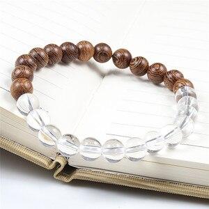 Image 4 - Natuurlijke DIY Houten Kralen Charm Chakra Armbanden Balans Yoga Meditatie Armband & Bangles Vrouwen Mannen Homme Gebed Sport Sieraden