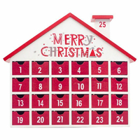 Christmas Gift Toys Wooden Calendar Decor Storage Box Candy Countdown Home Ornament Children Table 24 Drawers Advent