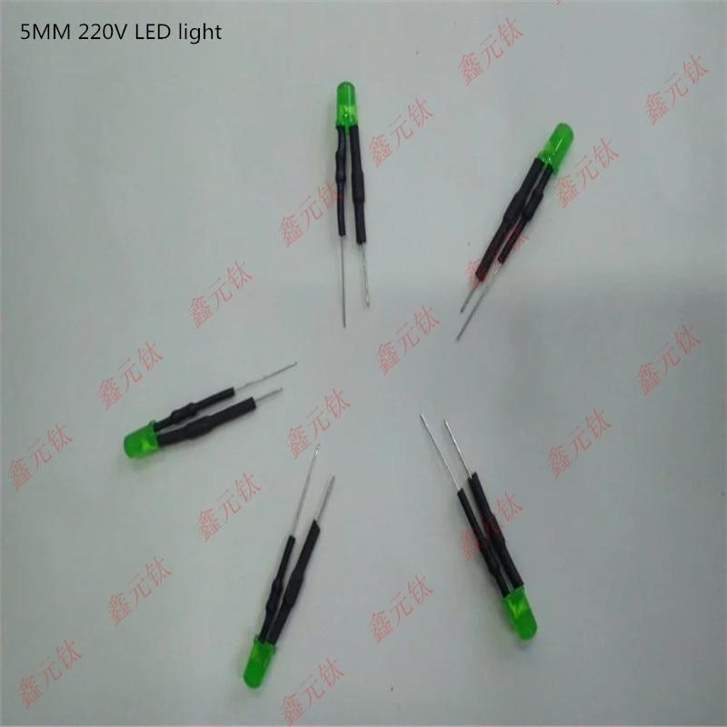 3MM 5MM 220V LED Lighting Beads Red Yellow Blue Green White Highlight Vaporific Lucency  Indicator Light 50pcs/lot