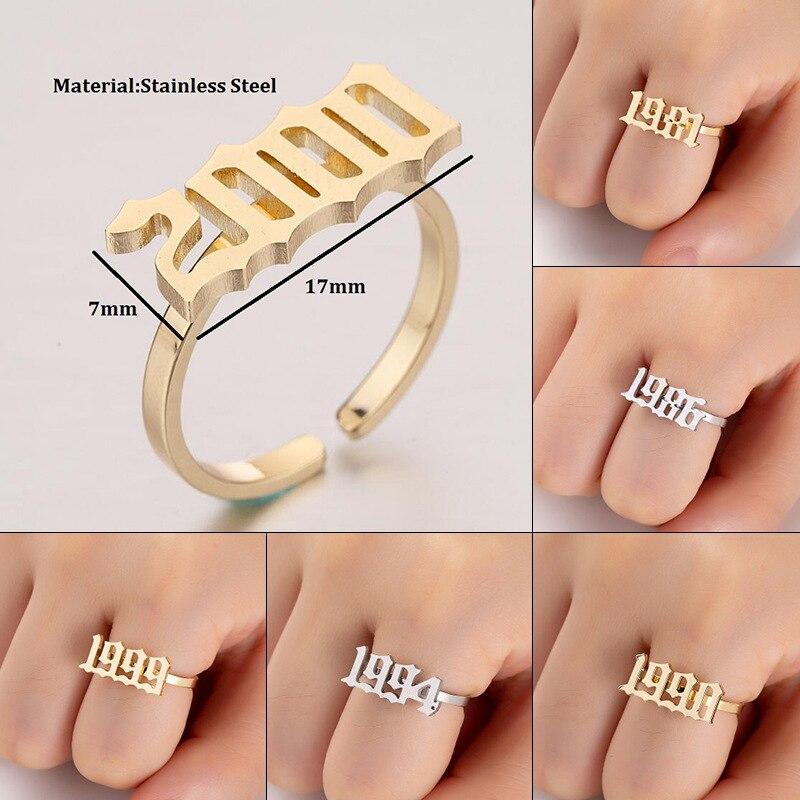 Кольцо с открытым кольцом JUJIE, подарок на день рождения, лучший подарок, модные ювелирные изделия, Прямая поставка, кольца из нержавеющей стали для женщин 2020