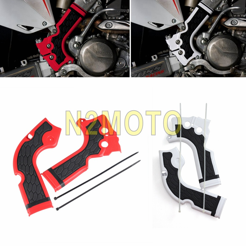 White/Red Motorcycles Frame Guard for Honda <font><b>CRF</b></font> 250R <font><b>450R</b></font> 2014 -<font><b>2016</b></font> Motocross Frame Protector image