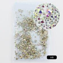Nowy kolor złota folia bez mocowania na gorąco kryształki górskie na dekoracje do zdobienia paznokci Flatback Strass kamienie DIY rzemiosło mobilne ubrania