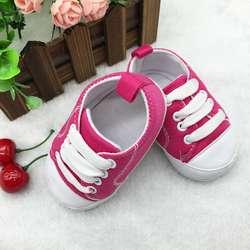 Новорожденный ребенок Брезентовая Колыбель обувь спортивная, кроссовки с Т-образным ремешком; мягкая детская подошва, Нескользящие