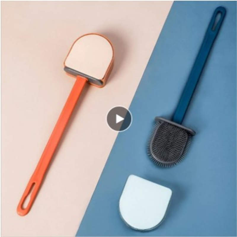 Toilet Brush Quick Draining Clean Tool Wall-Mount Floor-Standing Cleaning Brush Silicone Head Bathroom Toilet Brush Products