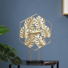 Креативный роскошный светильник для дома, гостиной, крыльца, Настольная мебель, Золотая черепаха, кованое железо, задний лист, украшения