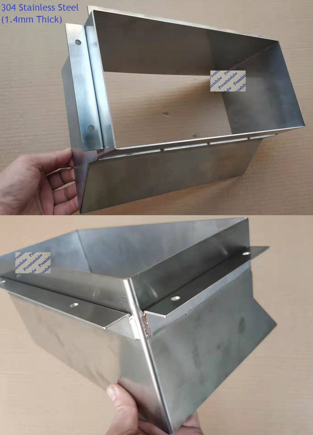 304 Stainless Steel Garbage Trash Chute Wall Back Mount Waste Cabinet Commercial Household
