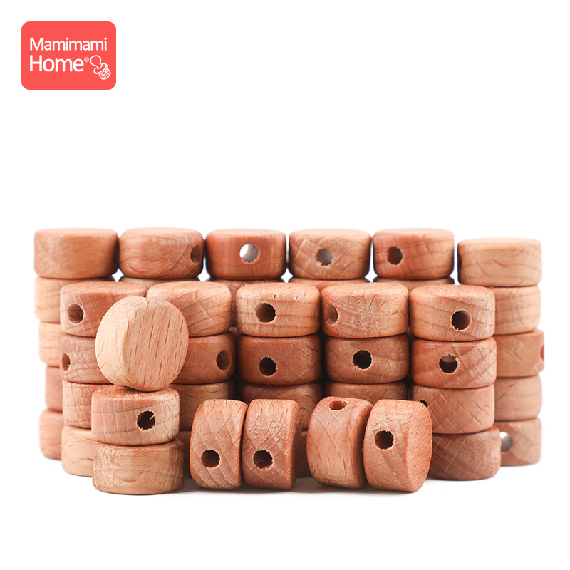 25pc Baby Wooden Olive Oil Beads Baby Teether DIY For Nursing Bracelets Necklace Wooden Blank Rodent Baby Products Newborn Gifts