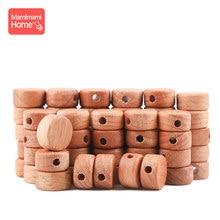 25pc Baby Holz Olivenöl Perlen Baby Beißring DIY Für Pflege Armbänder Halskette Hölzerne Leere Nagetier Baby Produkte Neugeborenen geschenke