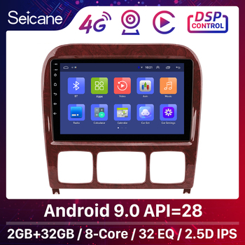 Seicane Car GPS Stereo Android 9.0 Autoradio For Mercedes Benz S Class W220 S280 S320 S350 S400 S430 S500 S600 AMG 1998-2005 image